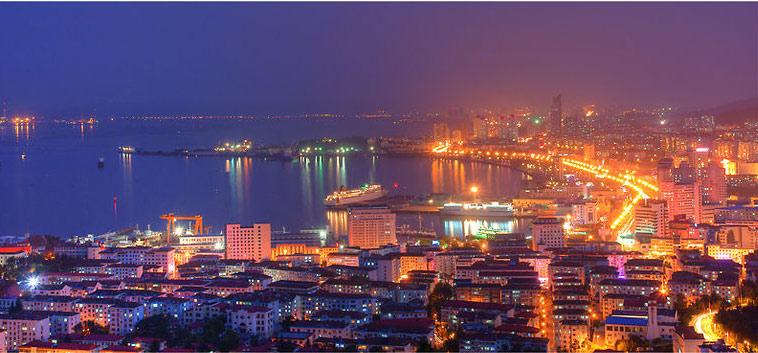 山东威海夜景风景