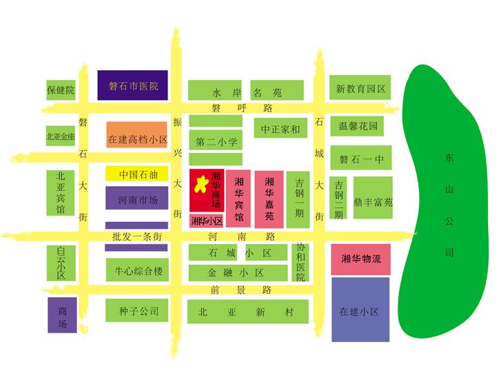 湘华商场地图鸟瞰图